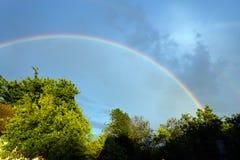 pogodny nieba chmurny krajobrazowy lato Obrazy Stock