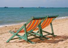 pogodny plażowy dzień Zdjęcie Royalty Free