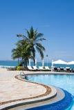 pogodny plażowy dzień fotografia royalty free
