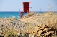 pogodny plażowy Greece Zdjęcie Royalty Free