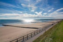 Pogodny popołudnie przy Aberdeen plażą obrazy royalty free