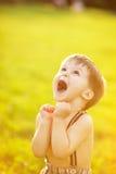 Pogodny portret dziecko Obrazy Royalty Free