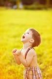 Pogodny portret dziecko Fotografia Stock