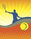 Pogodny tenis obraz stock