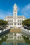 Pogodny widok na Porto urzędzie miasta lub Camara Miejski robimy Porto dalej Obrazy Stock