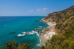 Pogodny wybrzeże w Włochy zdjęcie royalty free