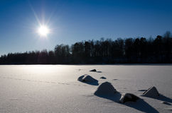 Pogodny zima dzień Zdjęcia Royalty Free