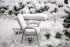 Pogodowa anomalia Śnieg w Maju obraz royalty free