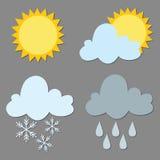 Pogodowa ikona ilustracji