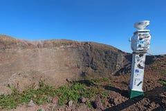 Pogodowa stacja na górze Vesuvius blisko Naples, Włochy Obraz Royalty Free