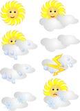 Pogodowe ikony Obraz Stock