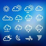 Pogodowe ikony Zdjęcia Stock