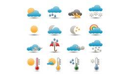 Pogodowe ikony Obrazy Stock