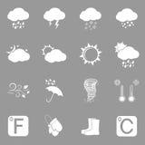 Pogodowe ikony Fotografia Stock