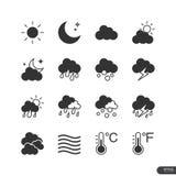 Pogodowe ikony ustawiać - wektorowa ilustracja Zdjęcie Royalty Free