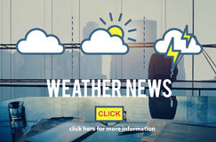 Pogodowego wiadomości przepowiedni Ewidencyjnego klimatu Dzienny pojęcie Fotografia Stock