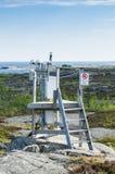 Pogodowej staci Sztokholm archipelag Fotografia Stock
