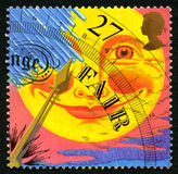 Pogodowy Barometryczny UK znaczek pocztowy Zdjęcia Stock