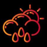 pogodowy ikona projekt royalty ilustracja