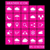Pogodowy ikona set Zdjęcie Stock