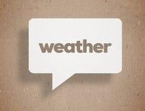Pogodowy poj?cie zdjęcia stock