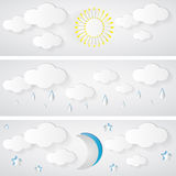 Pogodowy sztandar Zdjęcie Stock