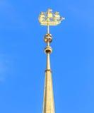 Pogodowy vane na admiralici w St Petersburg Obraz Royalty Free