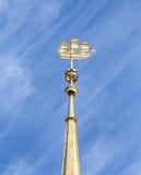 Pogodowy vane na admiralicja budynku w świętym Petersburg Zdjęcia Royalty Free