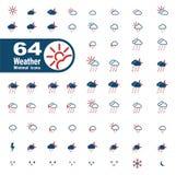 Pogody po prostu ikony Obrazy Royalty Free