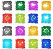 Pogody po prostu ikony Zdjęcie Stock