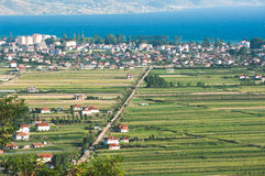 Pogradec Town In Southeastern Albania Royalty Free Stock Images