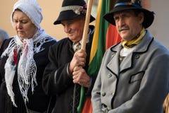 Pogrzeb generał brygady Adolfas Ramanauskas-Vanagas w Viln fotografia royalty free