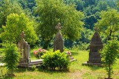 Pogrzeb w ogródzie monaster Moraca Montenegro Obrazy Stock