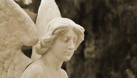 Pogrzebowa rzeźba anioł zaciszność obrazy royalty free