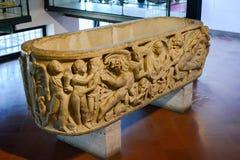 Pogrzebowy Grecki trumienny Agrigento, Sicily Zdjęcie Royalty Free