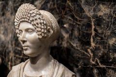 Pogrzebowy portret kobiety, Antycznego arystokrata Marmurowa statua/ Obraz Royalty Free