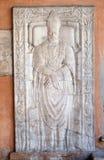 Pogrzebowy zabytek fifteenth wiek, portyk kościół St Lawrance przy Lucina, Rzym obrazy royalty free