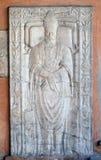 Pogrzebowy zabytek fifteenth wiek, portyk kościół St Lawrance przy Lucina, Rzym fotografia stock