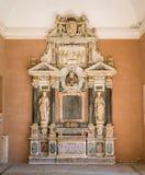 Pogrzebowy zabytek kardynał Paolo Emilio Sfondrati, bazylika Santa Cecilia w Trastevere, Rzym, Włochy zdjęcie royalty free