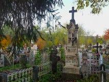 Pogrzebowy zabytek Teodor Petrescu jedyny syn Rumuński powieściopisarz Cezar Petrescu obrazy stock