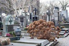 Pogrzeby na cmentarzu obrazy royalty free
