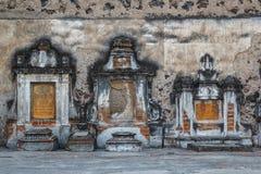 Pogrzeby na zewnętrznej fasadzie kościół katolicki w Cholula obraz royalty free