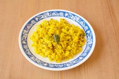 Poha, a breakfast item made of puffed rice Royalty Free Stock Image