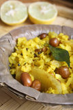Poha - A breakfast snack made of beaten rice Royalty Free Stock Photography