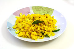 Poha, a popular breakfast item in India Stock Photo