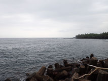 Pohoiki-Strand auf großer Insel Hawaii Stockfotos