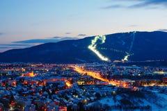 Pohorje und Maribor im Winter, Slowenien Lizenzfreies Stockfoto
