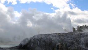Pohutu geyser eruption stock video