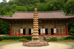 Pohyon Buddhist temple, North-Korea Royalty Free Stock Photo