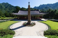 Pohyonsa (Pohyon) Korean Buddhist temple Royalty Free Stock Photography